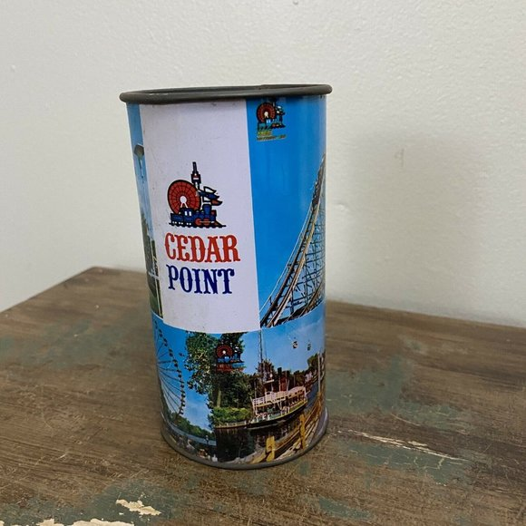 """COLLECTABLE  """" CEDAR POINT """" METAL CUP -"""